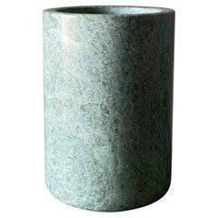 Postmodern Green Marble Vase, circa 1985