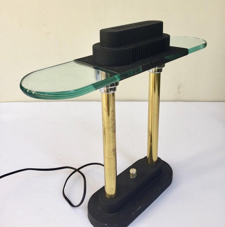 Postmodern Halogen Desk Table Lamp by Robert Sonneman for George Kovacs, 1980s For Sale 6