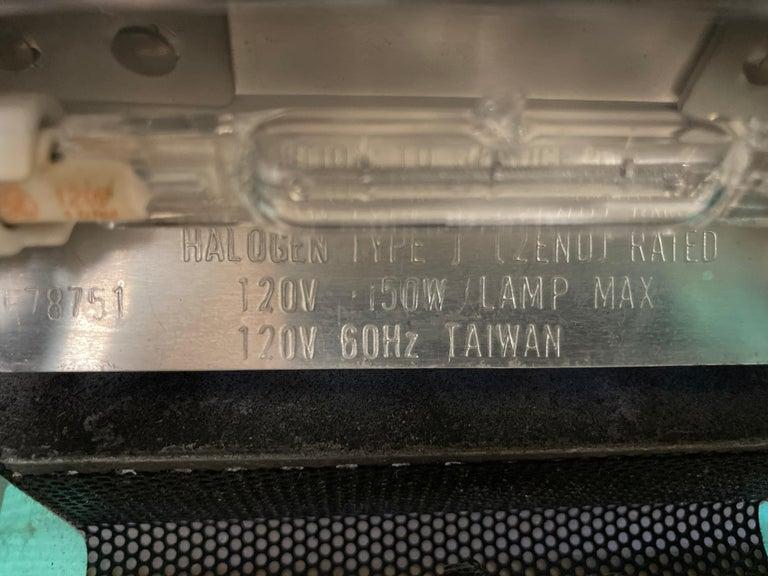 Postmodern Halogen Desk Table Lamp by Robert Sonneman for George Kovacs, 1980s For Sale 11