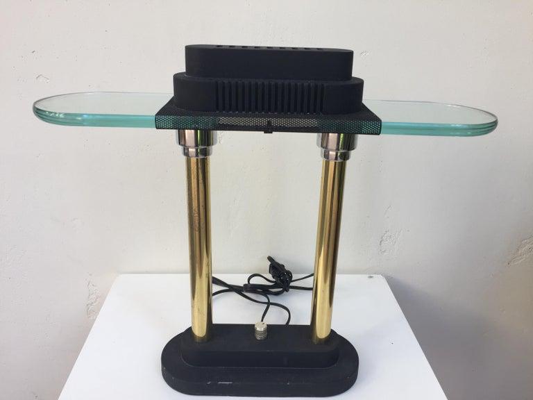 Mid-Century Modern Postmodern Halogen Desk Table Lamp by Robert Sonneman for George Kovacs, 1980s For Sale