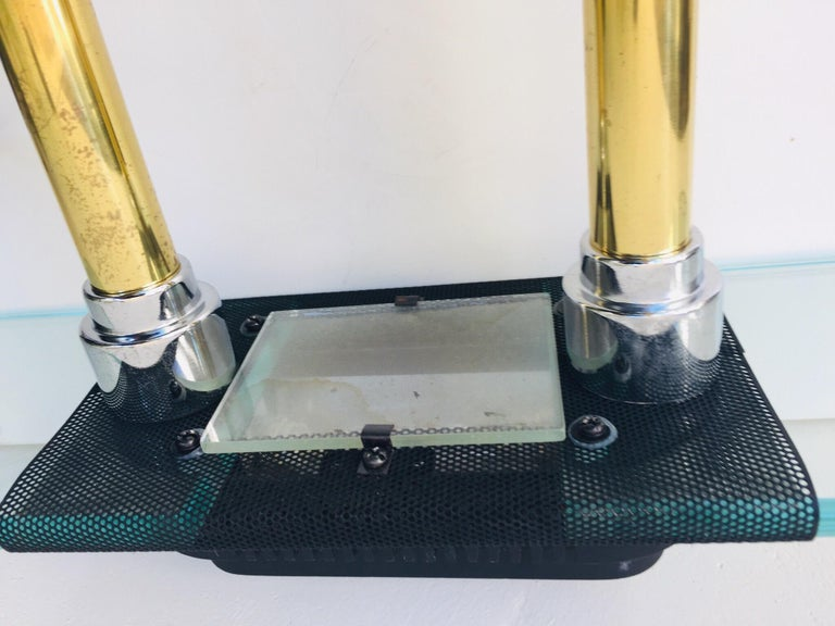 American Postmodern Halogen Desk Table Lamp by Robert Sonneman for George Kovacs, 1980s For Sale