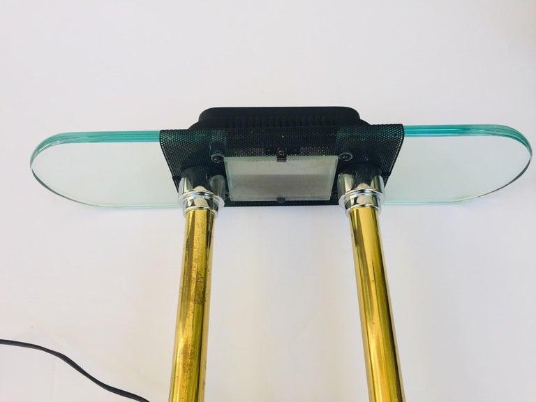 Postmodern Halogen Desk Table Lamp by Robert Sonneman for George Kovacs, 1980s For Sale 1