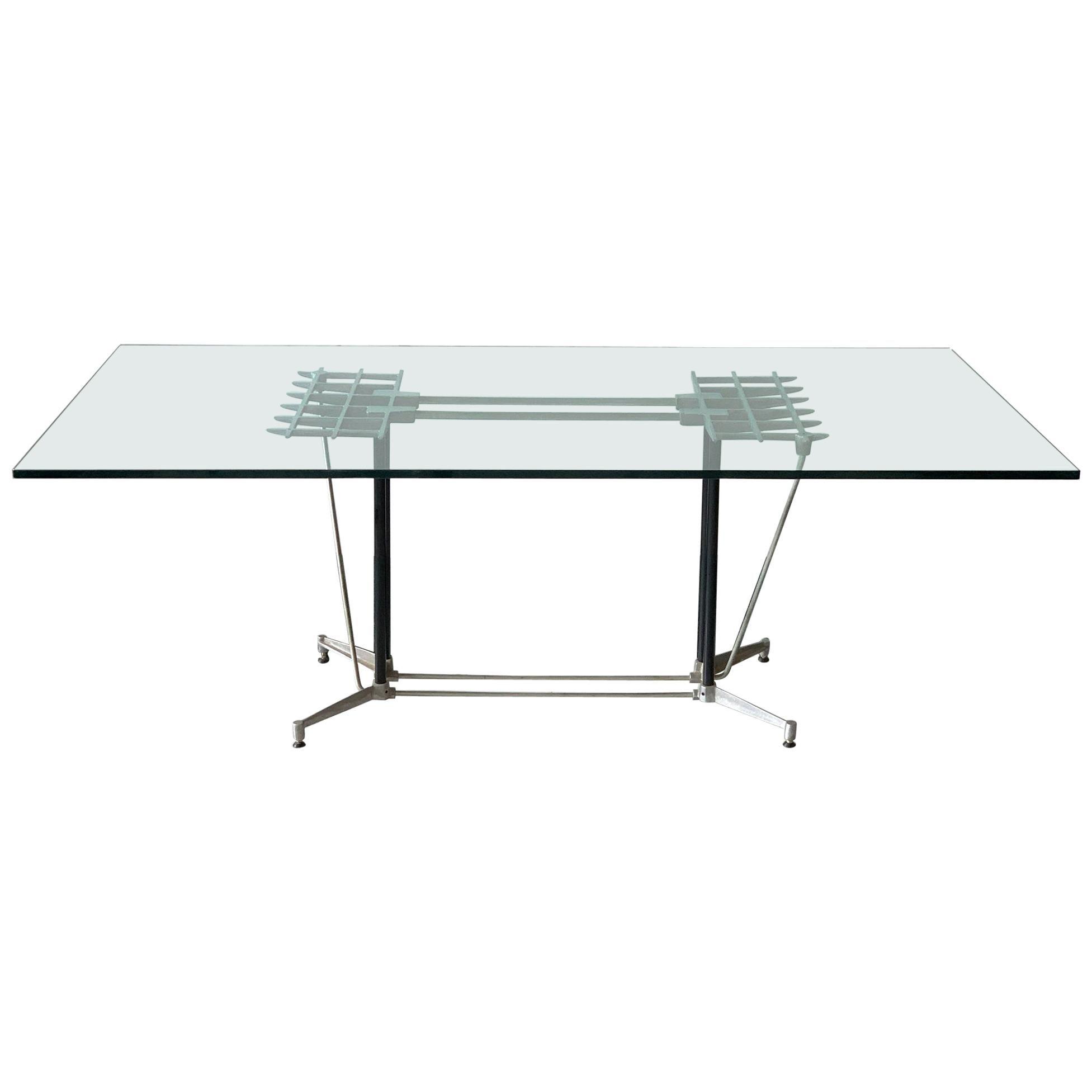Postmodern Industrial Dining Table Designed by Robert Josten