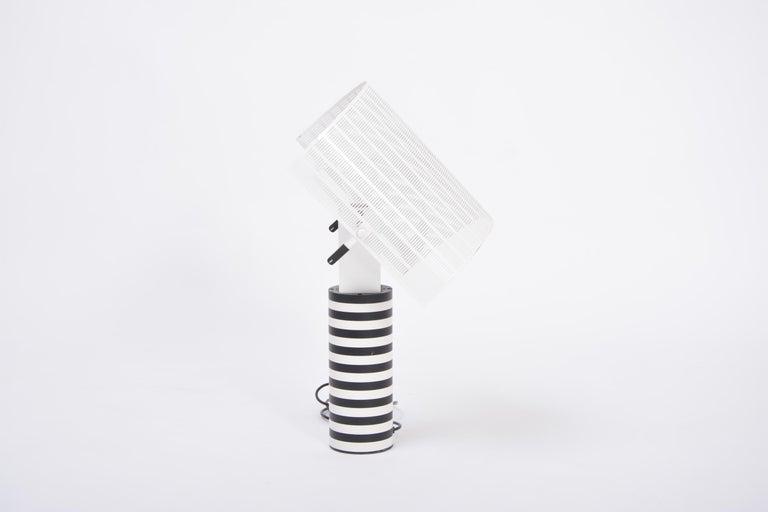 Postmodern Italian Black and White Table Lamp 'Shogun' by Mario Botta for Artemi For Sale 4