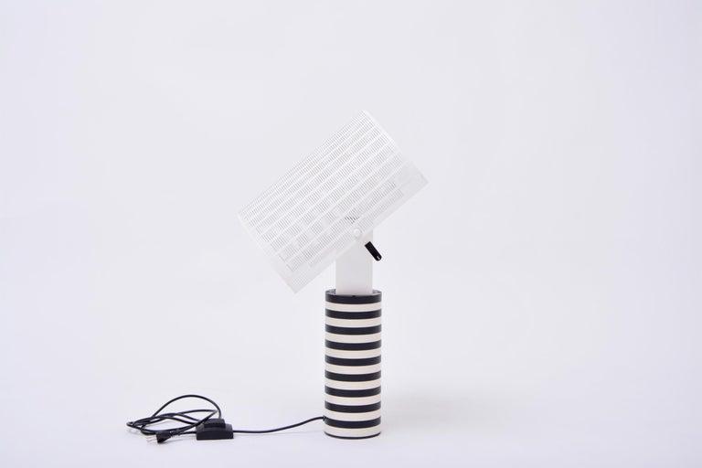 Post-Modern Postmodern Italian Black and White Table Lamp 'Shogun' by Mario Botta for Artemi For Sale