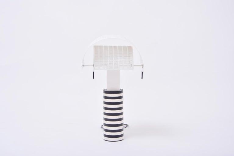 Postmodern Italian Black and White Table Lamp 'Shogun' by Mario Botta for Artemi In Good Condition For Sale In Berlin, DE