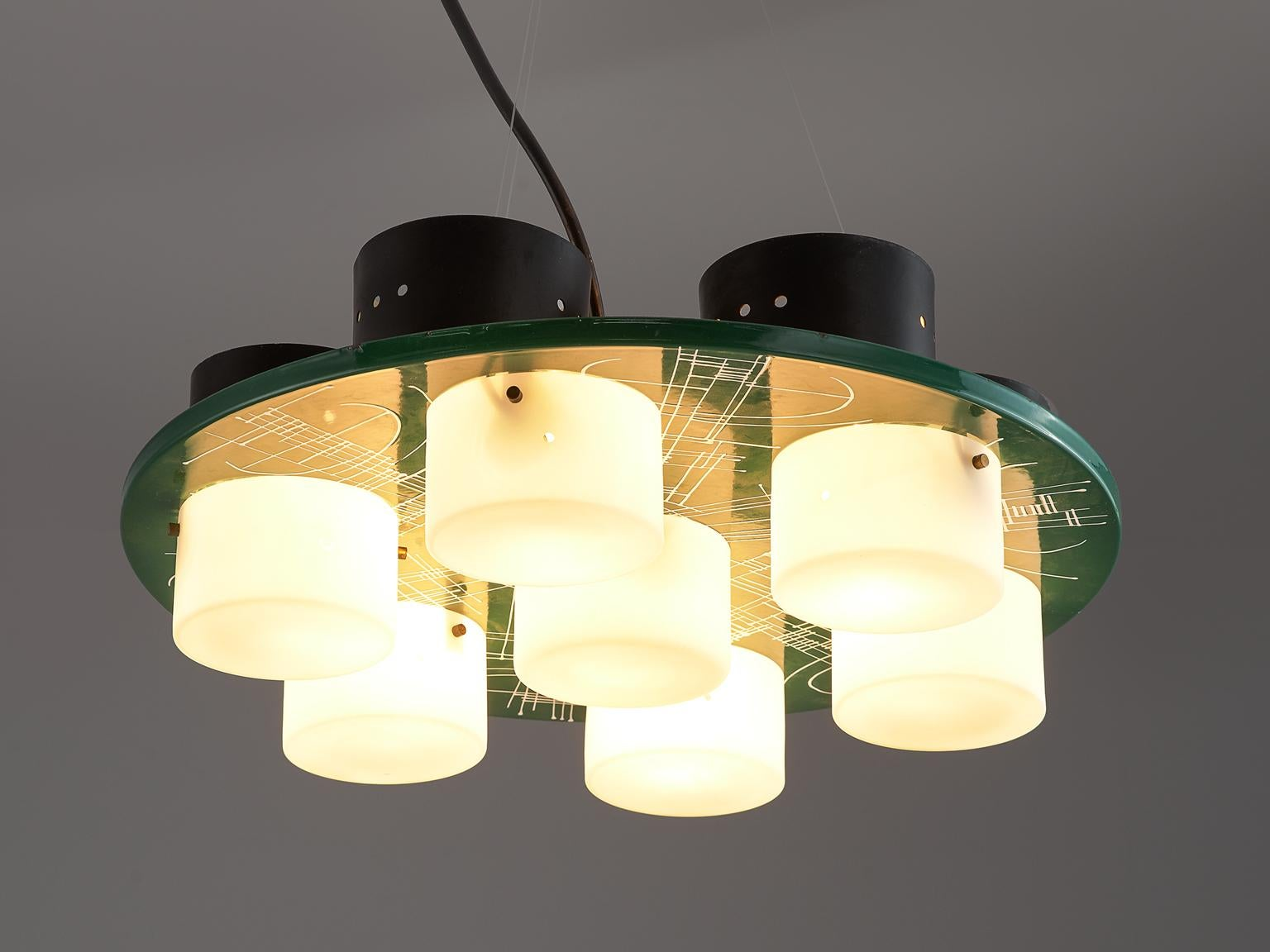 1970s ceiling lamp shades