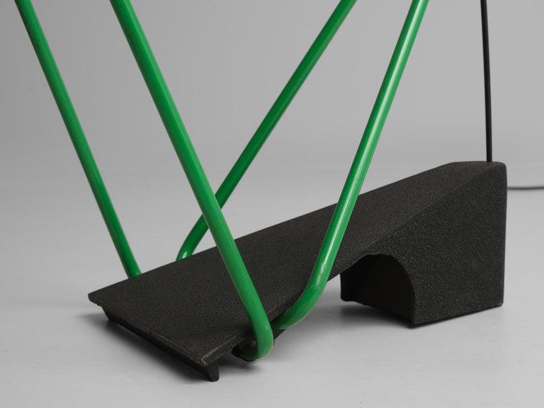 Steel Postmodern Italian Geometric Floor Lamp For Sale