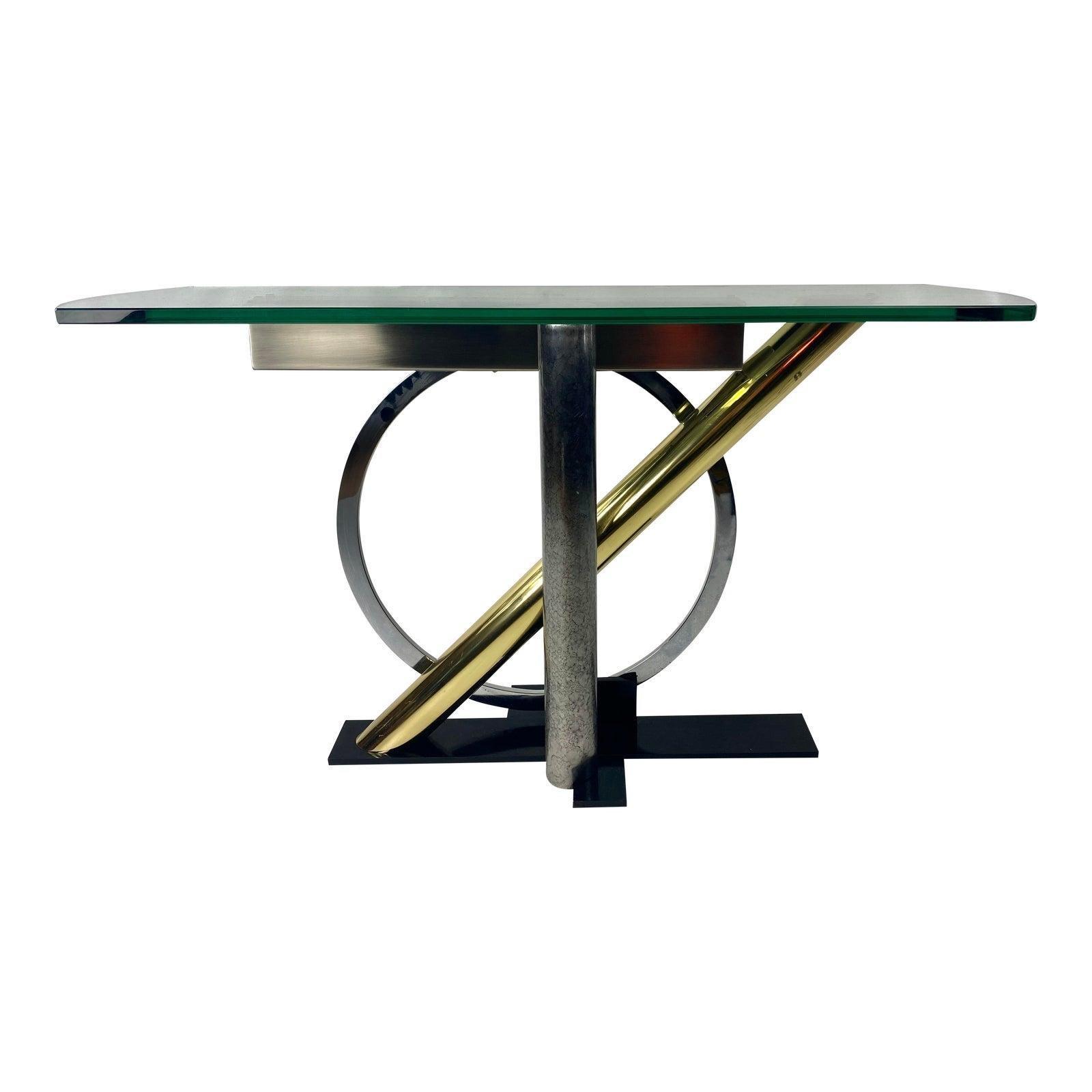 Postmodern Kaizo Oto for Design Institute America Console Table