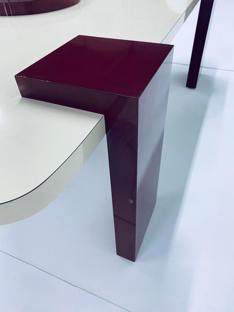 Postmodern Laminate Coffee Table, 1980s For Sale 5