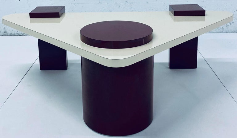 Postmodern Laminate Coffee Table, 1980s For Sale 7