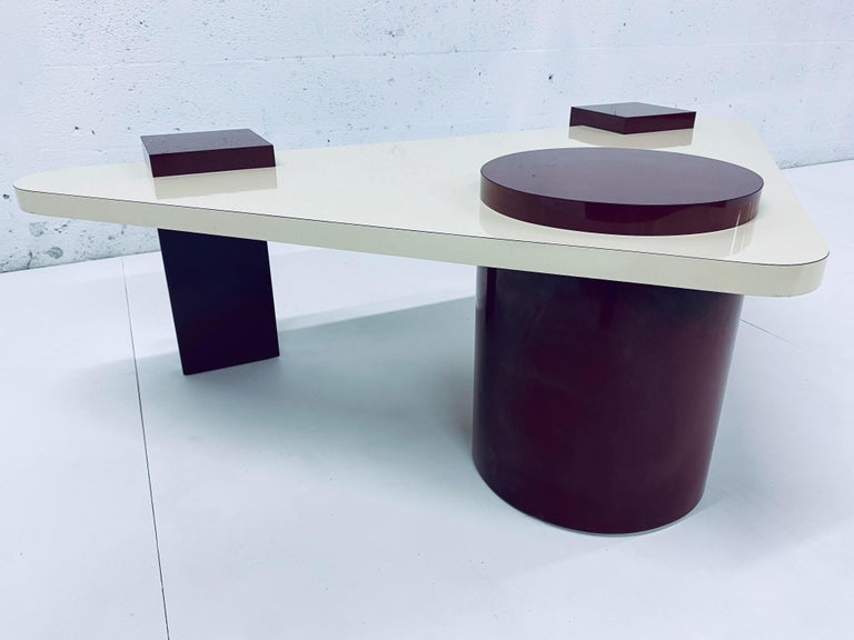 Post-Modern Postmodern Laminate Coffee Table, 1980s For Sale