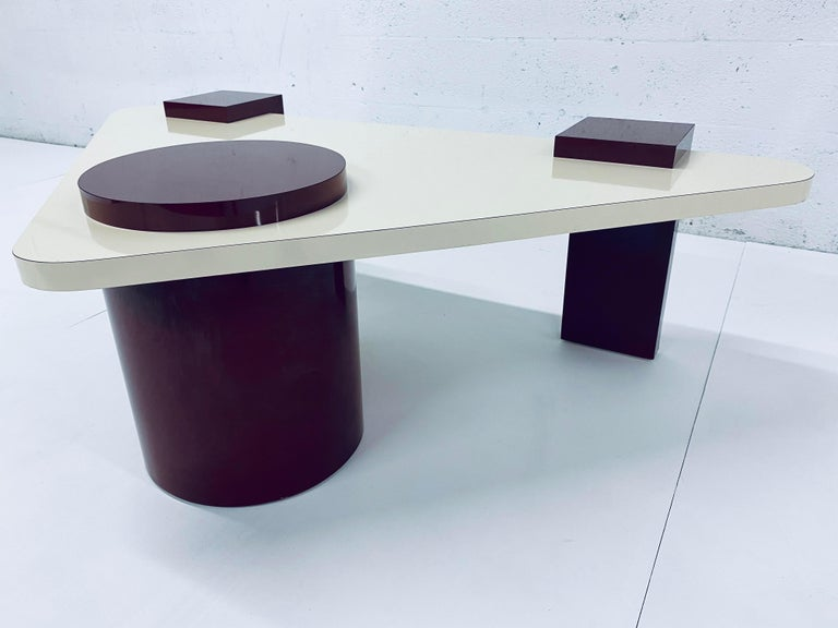Unknown Postmodern Laminate Coffee Table, 1980s For Sale