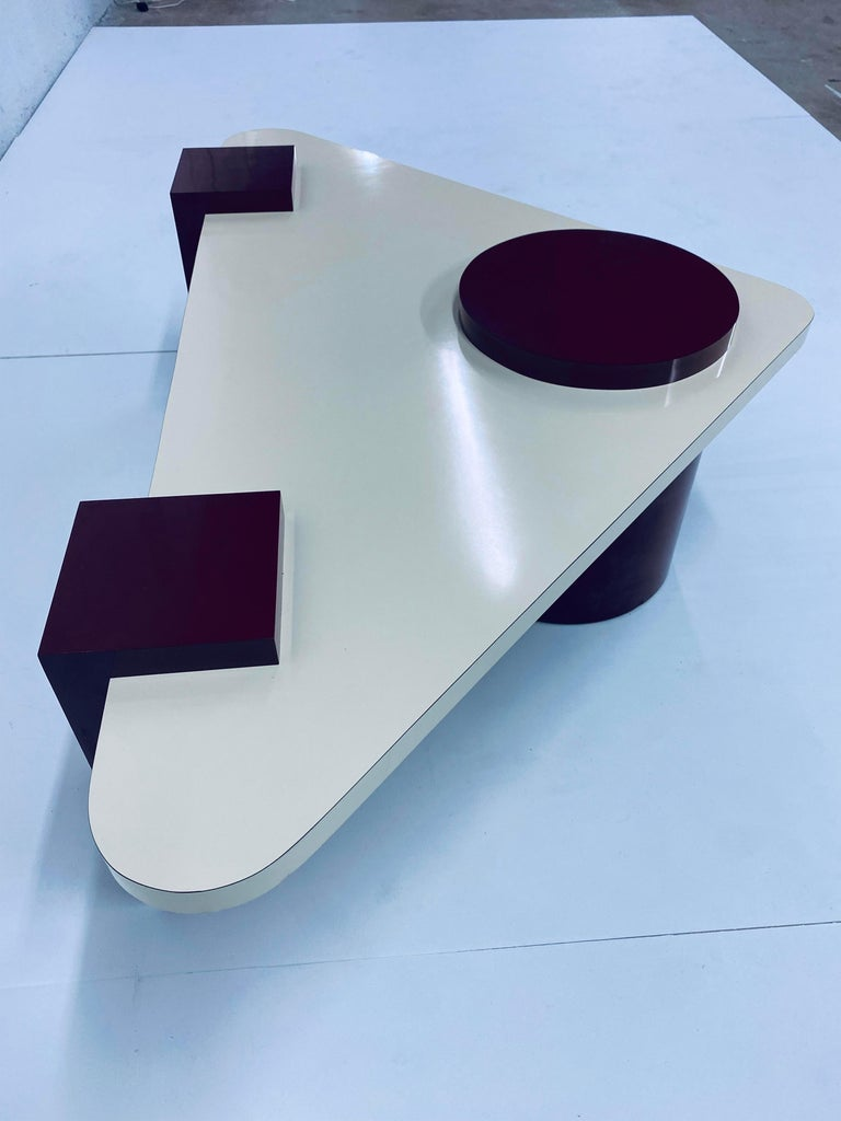 Late 20th Century Postmodern Laminate Coffee Table, 1980s For Sale