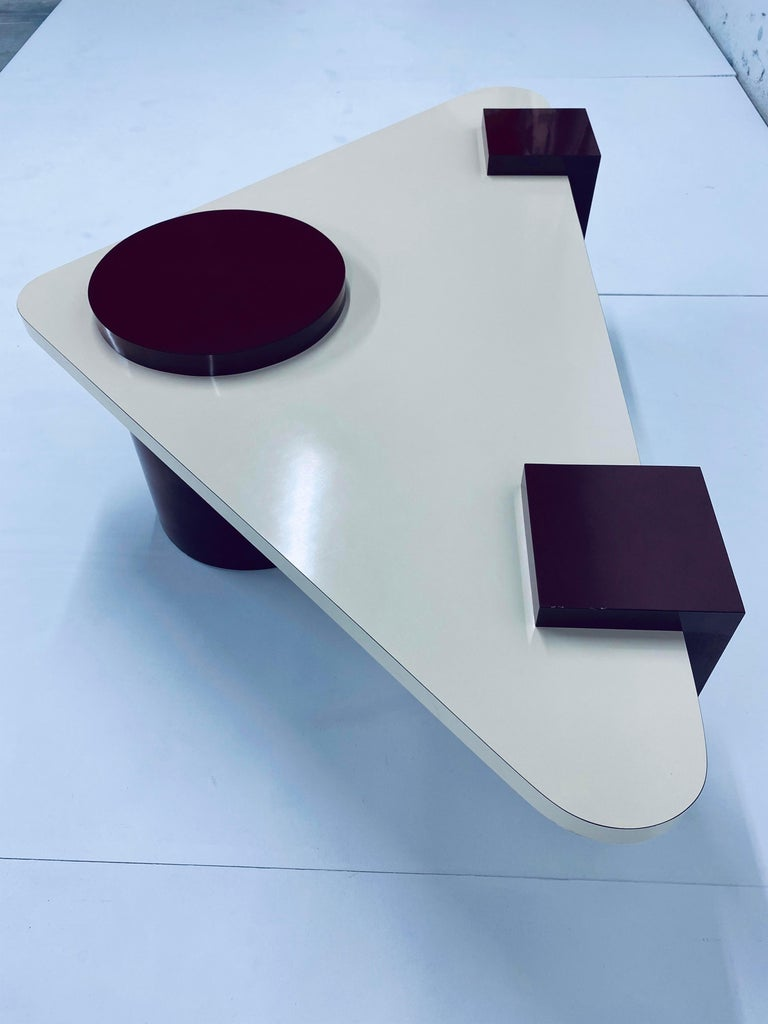 Postmodern Laminate Coffee Table, 1980s For Sale 1