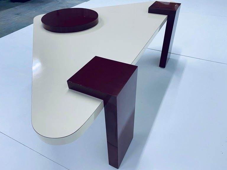 Postmodern Laminate Coffee Table, 1980s For Sale 2