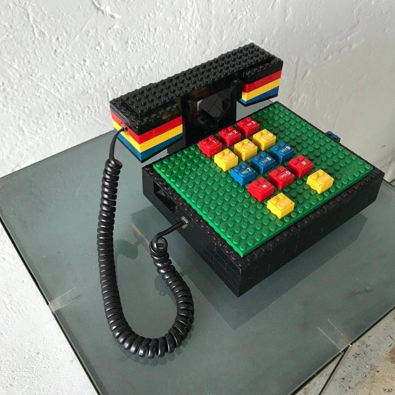 "Post-Modern Postmodern ""LEGO"" Telephone, Phone by Tyco"
