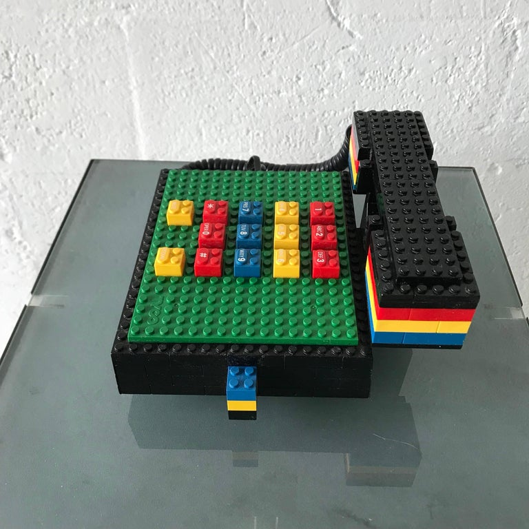 "Japanese Postmodern ""LEGO"" Telephone, Phone by Tyco"