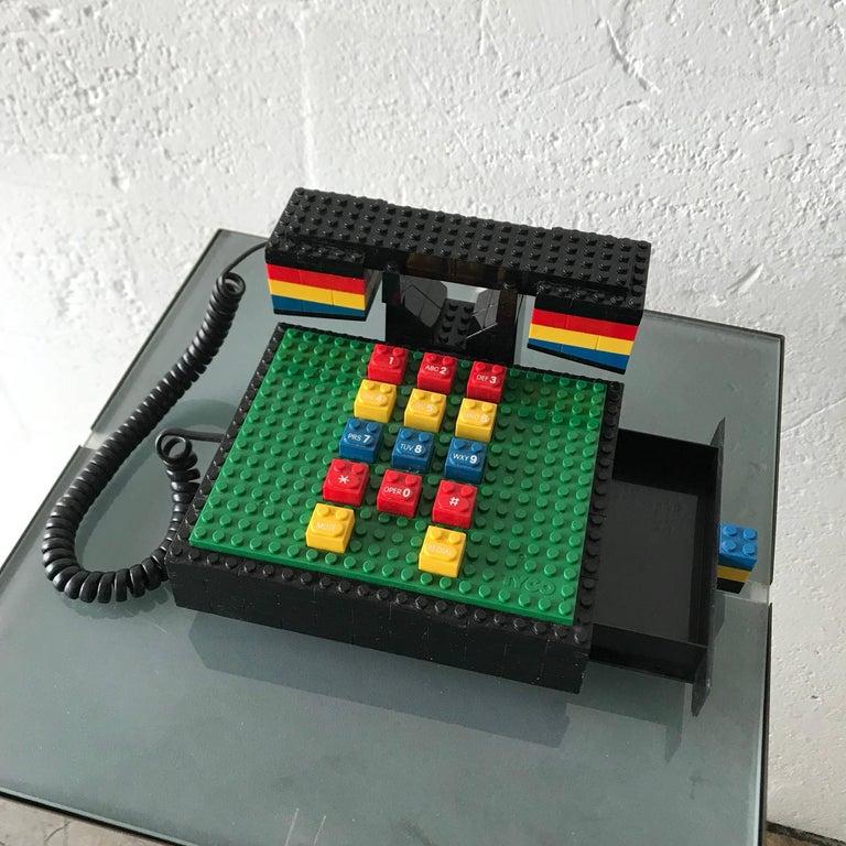 "Plastic Postmodern ""LEGO"" Telephone, Phone by Tyco"