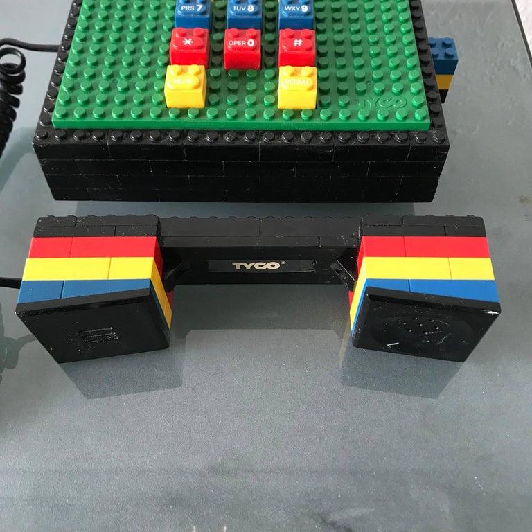 "Postmodern ""LEGO"" Telephone, Phone by Tyco 1"