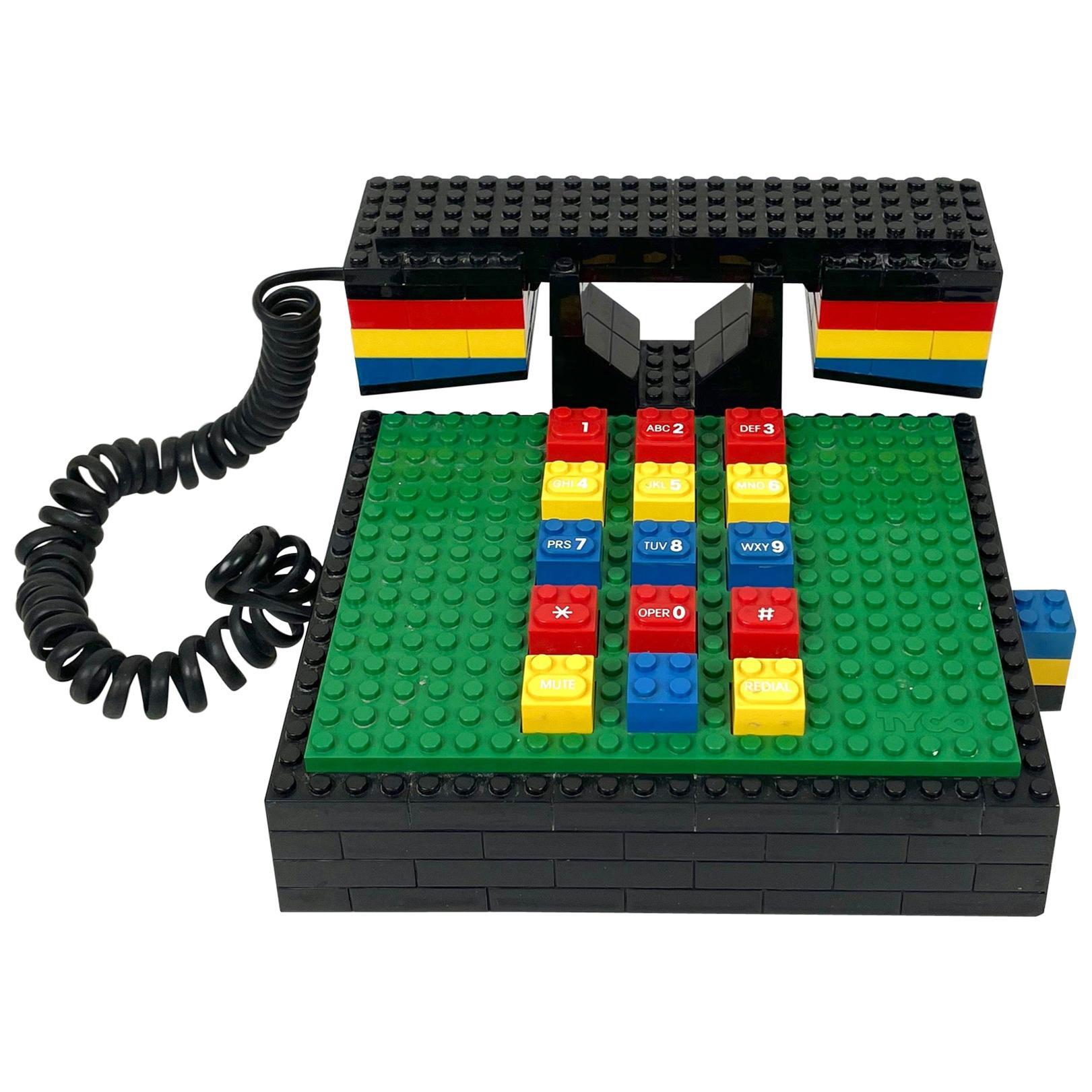 "Postmodern ""LEGO"" Telephone Phone by Tyco"