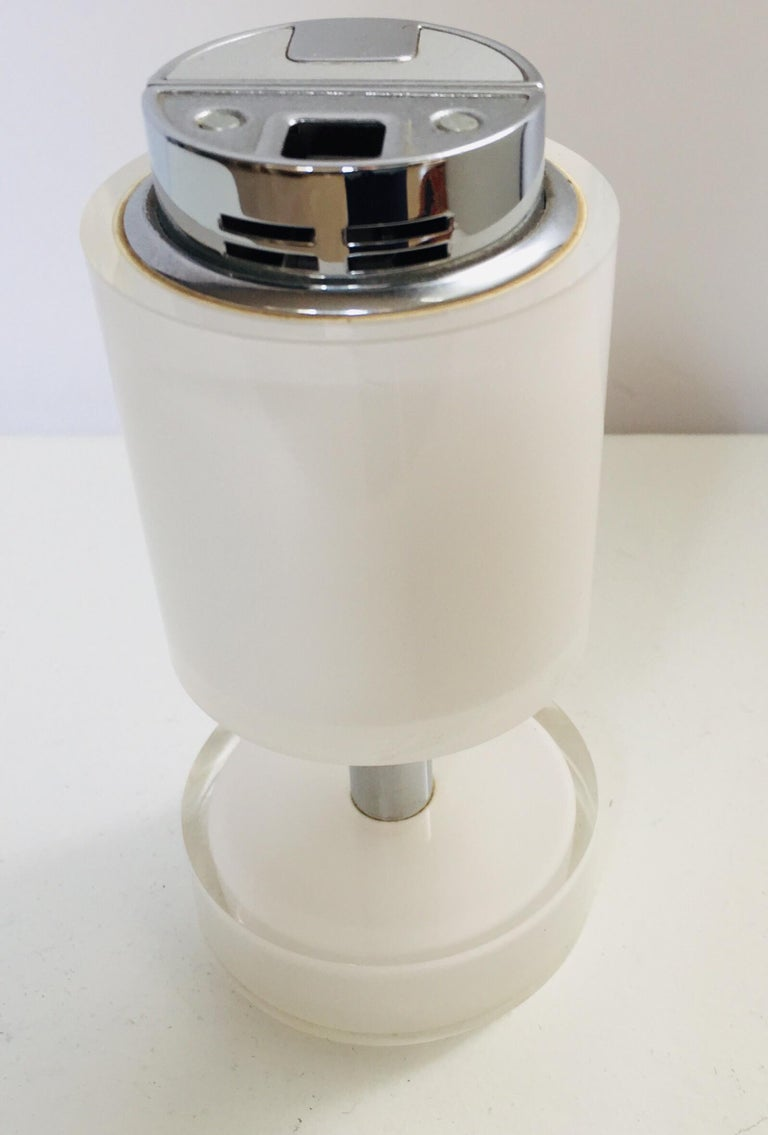 Post-Modern Postmodern Lucite White Table Lighter, Germany For Sale