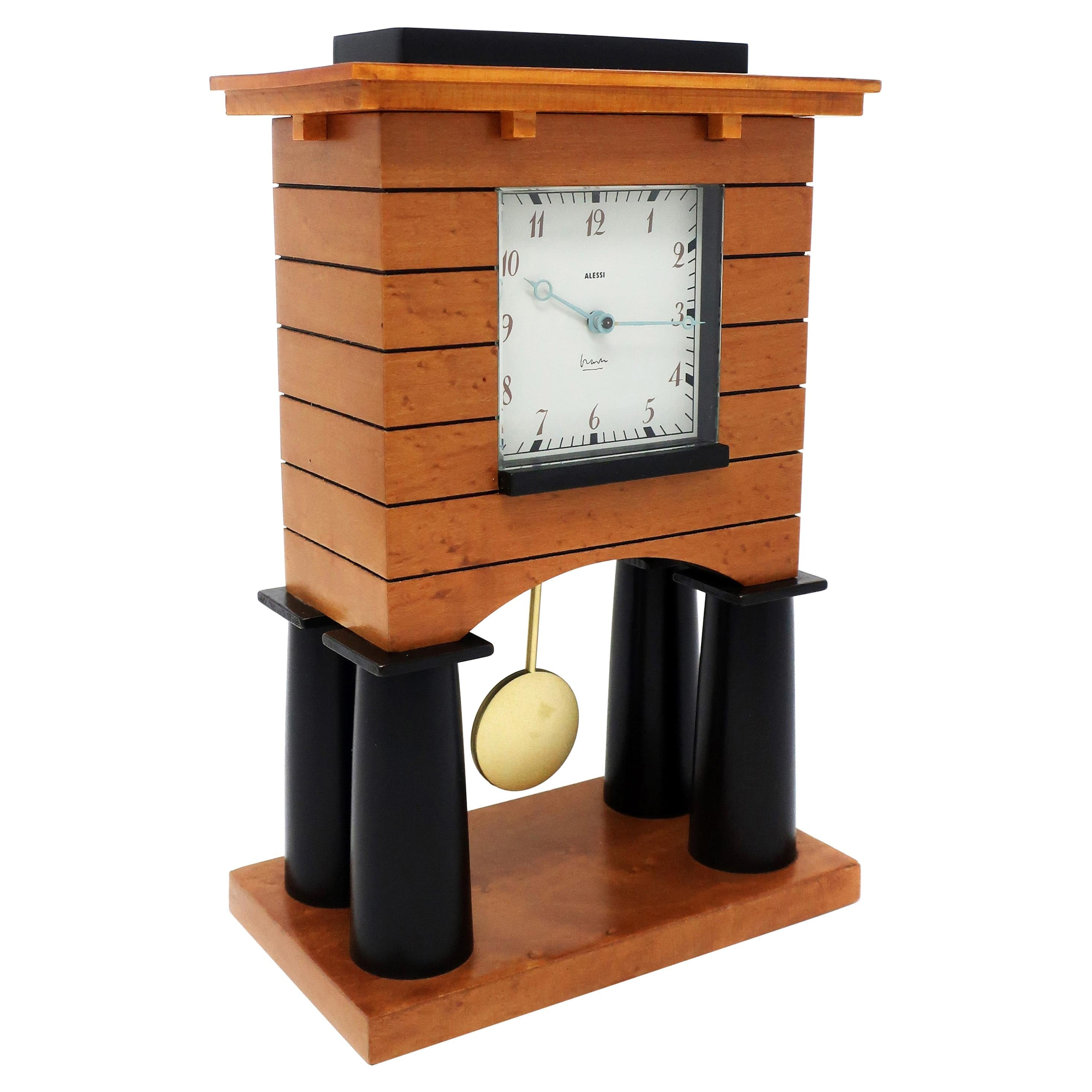 Postmodern Mantle Clock by Michael Graves for Alessi