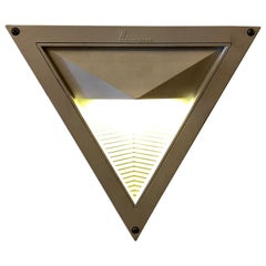 Postmodern Memphis Era Triangular Electric Wall Sconce by Hoffmeister