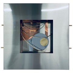 Postmodern Memphis Style Dimensional Mixed-Metal Wall Sculpture, 1980s '4 of 4'