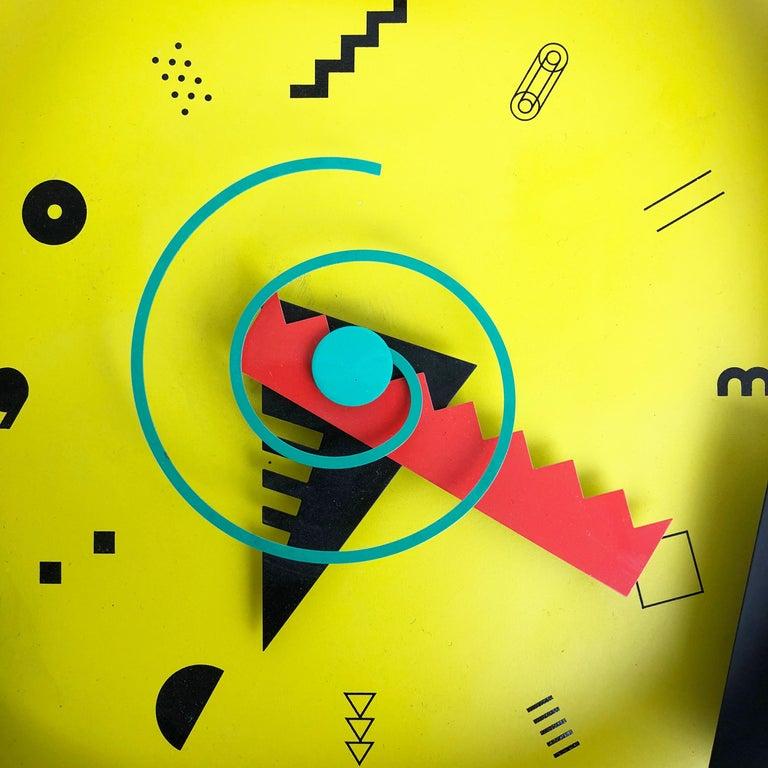 Postmodern Memphis Wall Clock