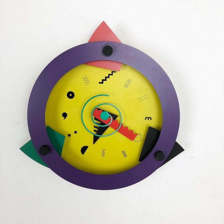 Japanese Postmodern Memphis Wall Clock