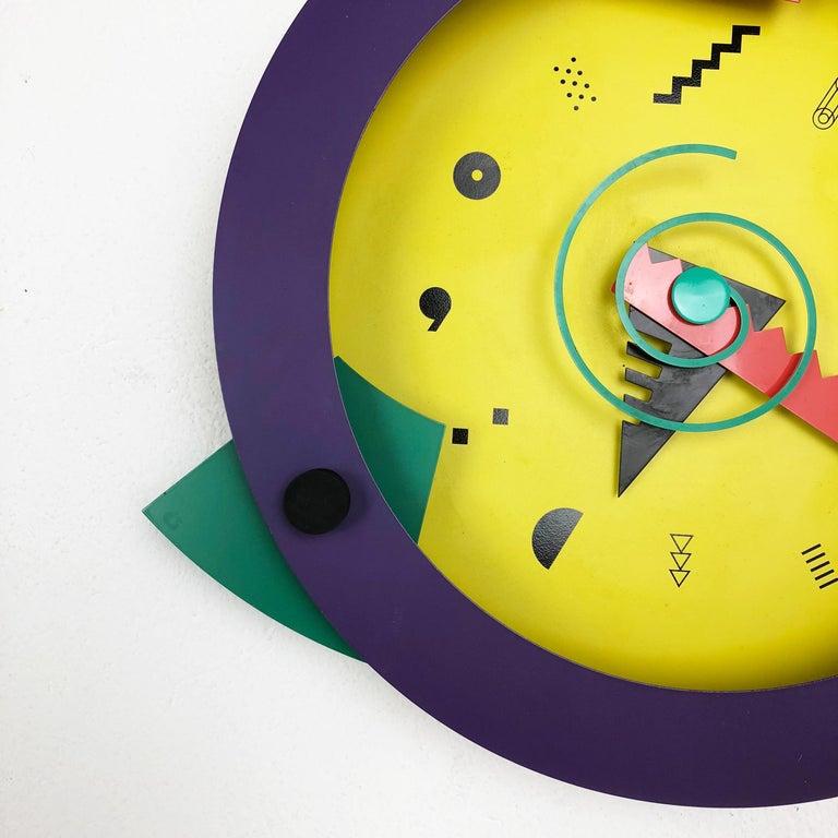 20th Century Postmodern Memphis Wall Clock