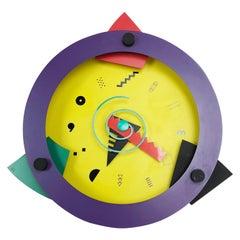 """Postmodern Memphis Wall Clock """"Paradise"""", Shohei Mihara x Wakita, Japan, 1980s"""