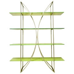 Postmodern Metal and Glass Bookshelves from Tonin Casa, Italy, 1990s
