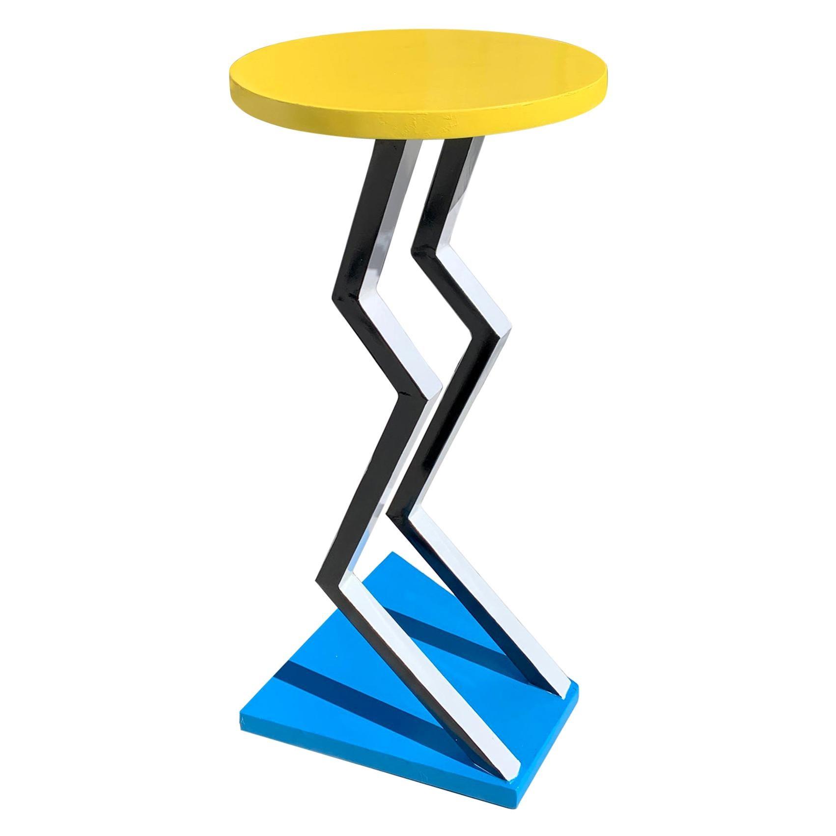 Postmodern Michele De Lucci Style Pedestal Table