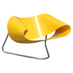 Postmodern Model CL9 Yellow Ribbon Chair by Franca Stagi and Cesare Leonardi