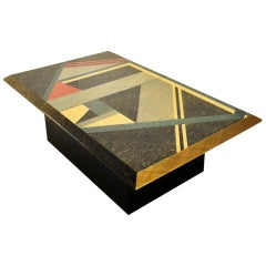 Postmodern Mosaic Coffee Table by Giovanni Offredi for Saporiti, Italy 1980s