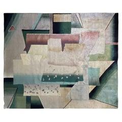 Postmodern Multicolor Geometric Rug, 1980s