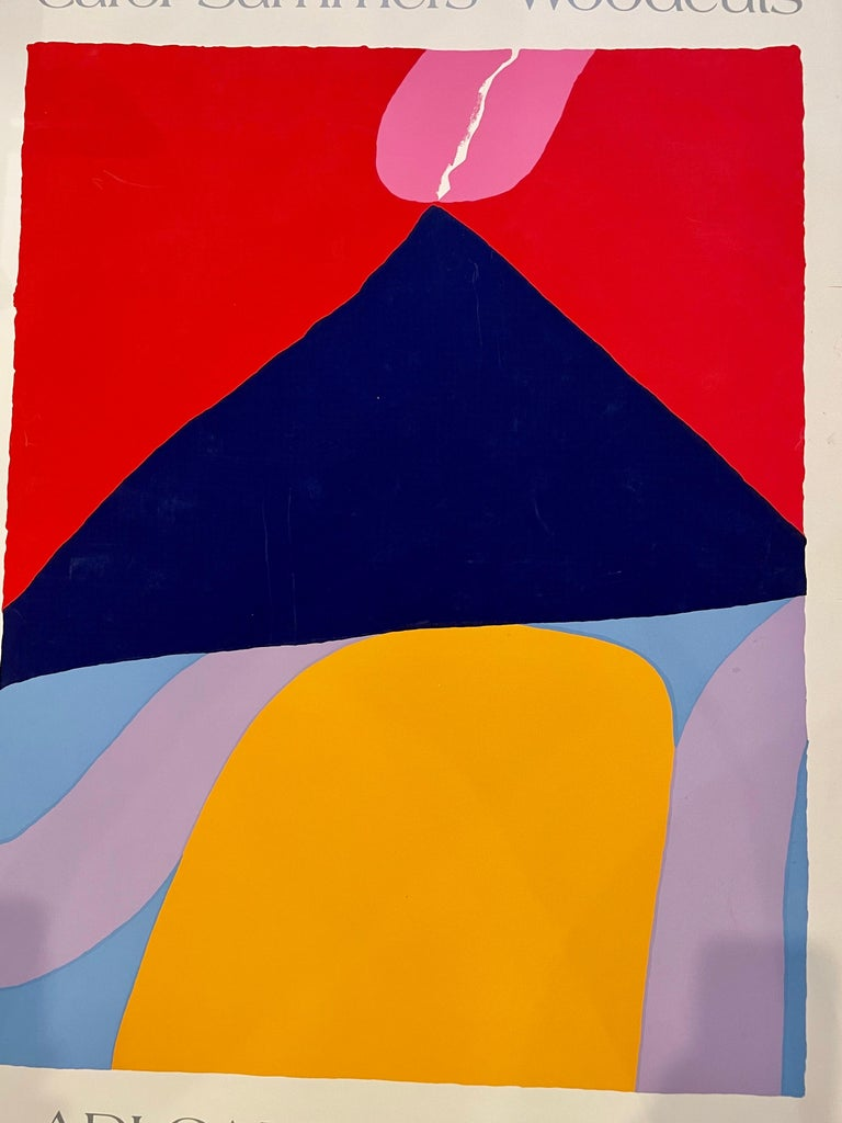 Post-Modern Postmodern Original Rare Lithograph Poster by Carol Summers with Embossed Mark