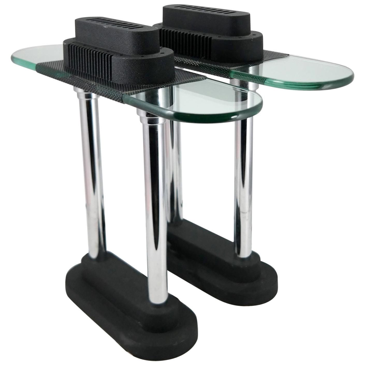 Postmodern Pair of Table Lamp by Robert Sonneman, 1980s