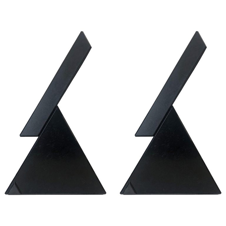 """Postmodern Pair of """"Delta"""" Table Lamps by M. Bertorelle for JM RDM, 1980s For Sale"""