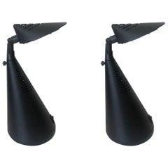 "Postmodern Pair of ""Scorpio"" Table Lamps by Fase, Madrid, 1980s"