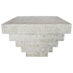 Postmodern Plaster Stacked Table
