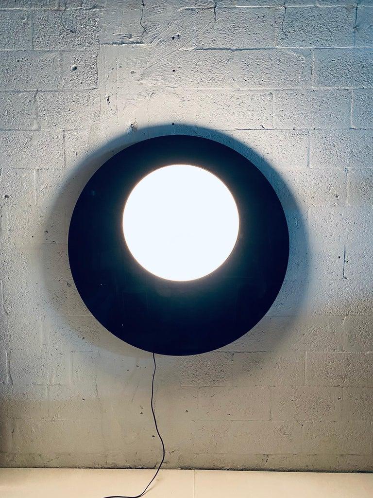 Postmodern Plexiglass Lunar Eclipse Orb Wall Mounted Lamp, 1980s For Sale 5