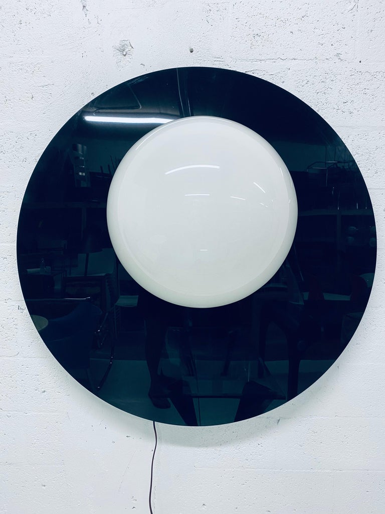Postmodern Plexiglass Lunar Eclipse Orb Wall Mounted Lamp, 1980s For Sale 9
