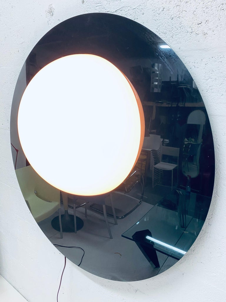 Late 20th Century Postmodern Plexiglass Lunar Eclipse Orb Wall Mounted Lamp, 1980s For Sale