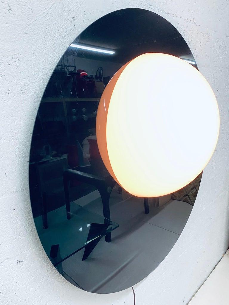 Postmodern Plexiglass Lunar Eclipse Orb Wall Mounted Lamp, 1980s For Sale 1