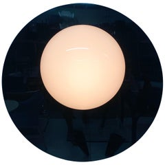 Postmodern Plexiglass Lunar Eclipse Orb Wall Mounted Lamp, 1980s