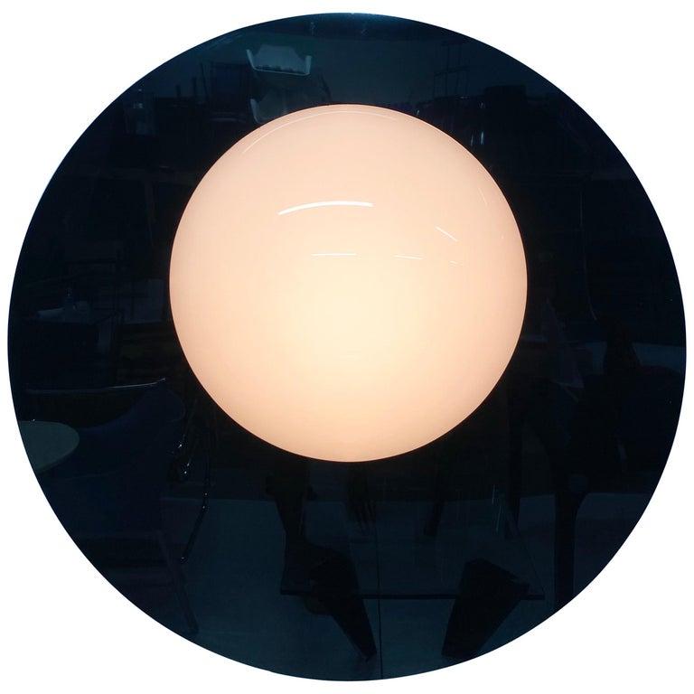 Postmodern Plexiglass Lunar Eclipse Orb Wall Mounted Lamp, 1980s For Sale