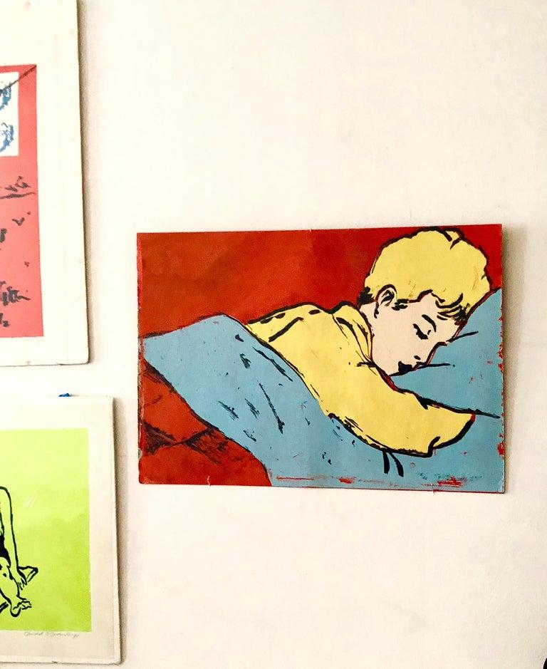 "Australian Postmodern Pop Art ""Boy Sleeping"